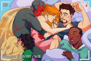 Sleepover. by Mauw-than-one