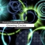 Glowing Circles Photoshop and GIMP Brushes by redheadstock
