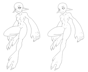 Original Base - Mini Monster Lady by Shadow-Bases