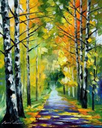 Birches by Leonid Afremov by Leonidafremov