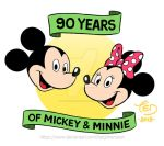 90 years of Mickey and Minnie by TedJohansson