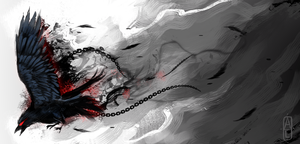 Blood on Black by foxchirps
