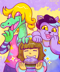 Bratty, Catty, and a Glamburger by raizy