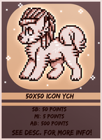 50x50 Icon YCH Auction-- CLOSED by XxWolfArtxX