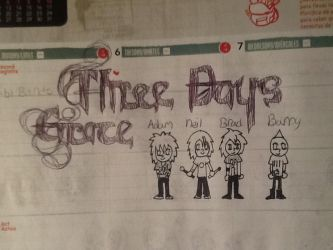 three days grace chibis by Cinosxshadow