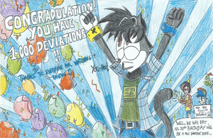 Congradulation!! You have 1,000 Deviations!! by FTFTheAdvanceToonist