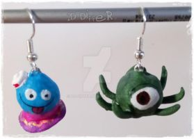 one-eyed-octopus and superfast jellyfish by 2D-Dipper