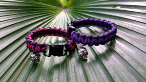 Microcord bracelets with skulls for sale! by Sugaree-33