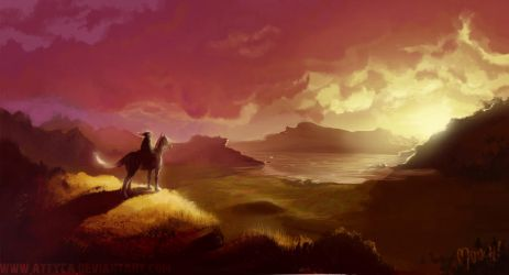 Epona and Link by Attyca