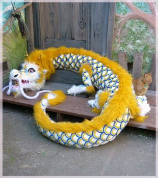 giant plush chinese dragon by LilleahWest
