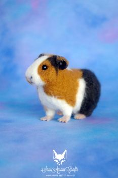 needle felted guinea pig pet portrait I by SaniAmaniCrafts