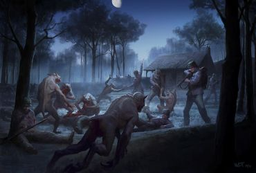 Cthulhu Wars - Night Fight at Chappell's Farm by wraithdt