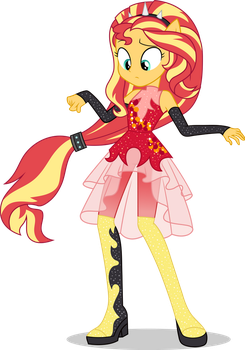 Sunset Shimmer - Friendship Power by icantunloveyou