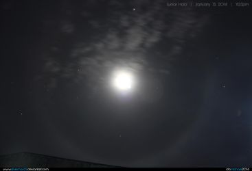 Lunar Halo 01-13-14 by silverman23