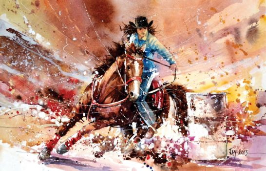 Speed Painting - Barrel Racing by Abstractmusiq