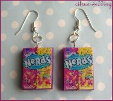 nerds earrings by citruscouture
