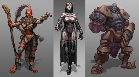 Characters design by Brolo