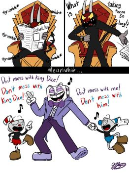 Cuphead Comic: Backup Singers by SimplyAmacyng