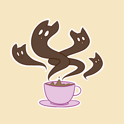 cat-puccino sticker by popfiish