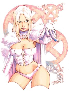 marker: Emma Frost by KidNotorious