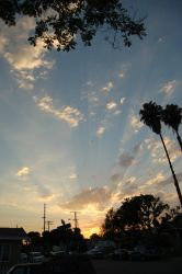 Sunset Over Long Beach 071806 by doncroswhite