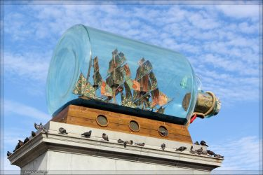 Ship in a bottle by aprileagle