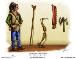 Tasslehoff and Kender Weapons by mbielaczyc
