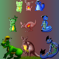 Flora-Fire-Water Starters by PipeDreamNo20