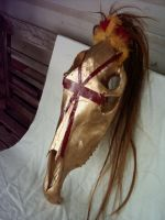 Cross Horse Skull by Niravanya
