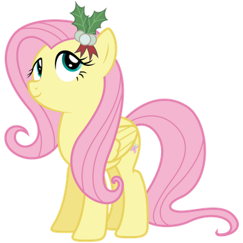 Vector 042 - Fluttershy with Mistletoe by MPnoir