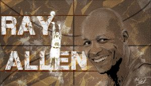 Ray allen poster by Mark-Clark-II