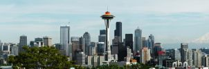 Seattle Space Needle 50th Anniversary Panorama by WillFactorMedia