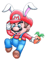 Super Mario Suits Collab: Bunny Mario by cmdixon589