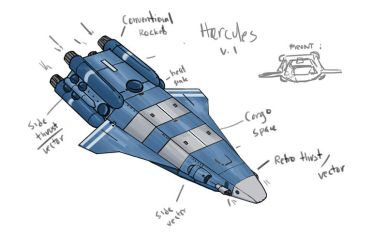 Hercules Freighter concept by jailgurdnegative