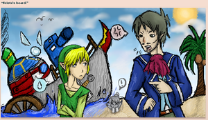 Link and Linebeck- Shipwrecked by Chrissymo