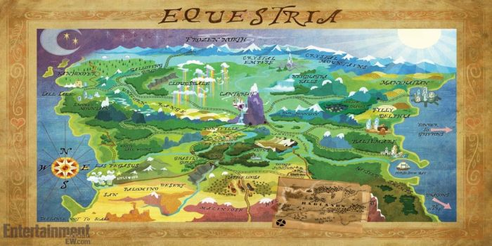 Map of Equestria: My Little Fortress style by BigPanOnCampus