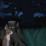 Crowfeather and Leafpool by Lunatic-Mo-on