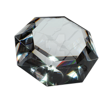 Faceted diamond on a transparent background by PRUSSIAART