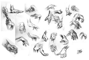 Hand Studies by TheLoganMiller