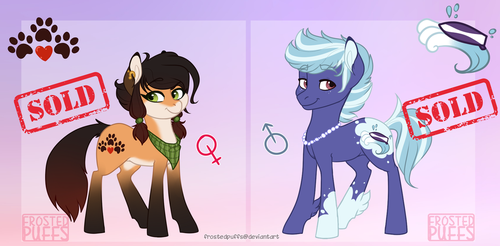Earth pony adopts - CLOSED by frostedpuffs