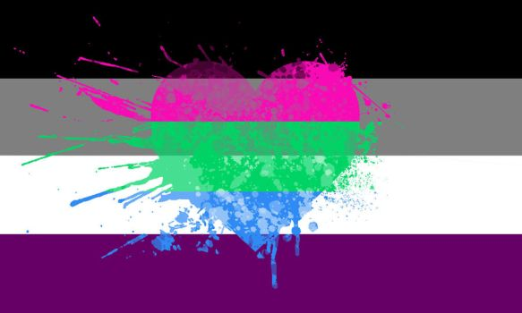 Asexual Polyromantic Pride Wallpaper by AmyBluee42