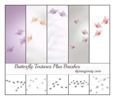 5 Free Butterfly Textures plus Photoshop Brushes by ibjennyjenny