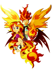 Many forms of Sunset Shimmer by II-Art