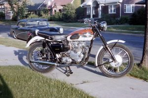 Brand New Triumph 1961 by OldMotorcyclePix