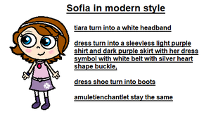 Sofia in modern outfit by ABtheButterfly