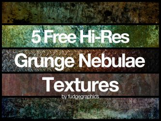 Grunge Nebulae Textures by fudgegraphics