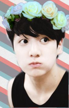 Jeon JungKook (Bangtan) Flower Crown Edit by AsChildishAsPeterPan