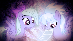Flitter and Cloudchaser Wallpaper-Delta105 Collab by TygerxL