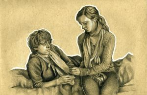 Ron and Hermione in the Tent by OhZeTragicRibbon