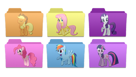 mac style pony folders by rhubarb-leaf